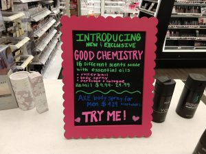 Product sign from Target