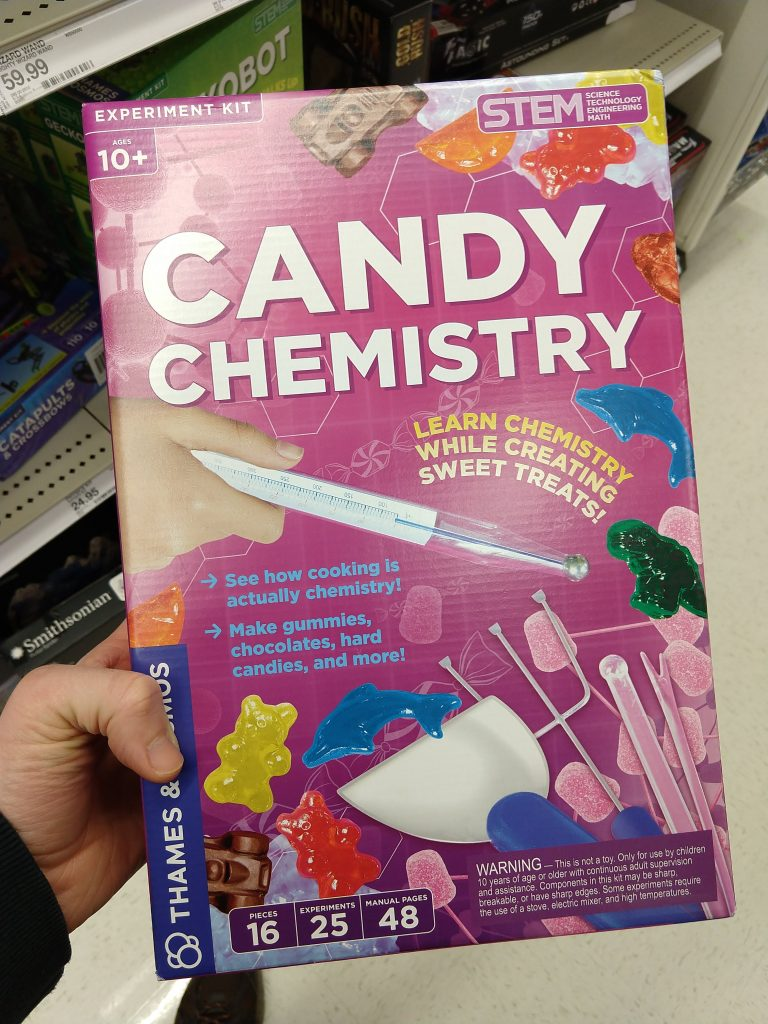 picture of a chemistry-themed candy set