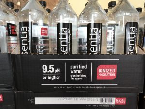 bottles of water with pH of 9.5