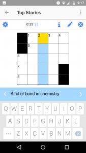 Screenshot of a crossword puzzle